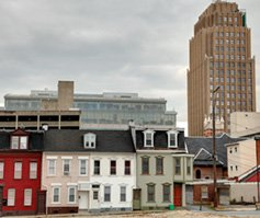 Picture of Cloudy skyline of Allentown, PA