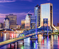 Picture of Jacksonville City, FL at nighttime