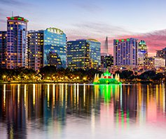 Picture of Orlando skyline at night