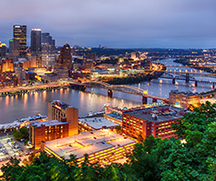 Picture of Pittsburgh, PA from above