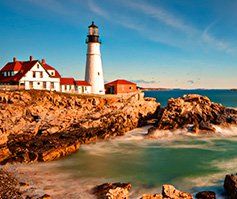 Picture of Portland Head Lighthouse in Cape Elizabeth, Maine