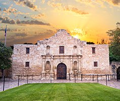 Picture of The Alamo in San Antonio, Texas