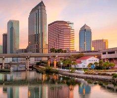 Imagen del centro de Tampa, FL