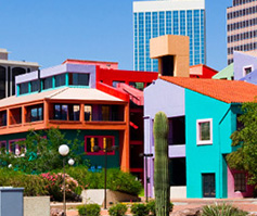 Picture of colorful buildings in Tucson, AZ