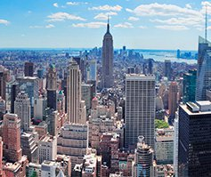 Picture of New York City with Empire State Building