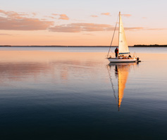 Picture of Sailboat on Calm Water