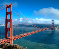Imagen del Golden Gate Bridge en Silicon Valley, San Francisco
