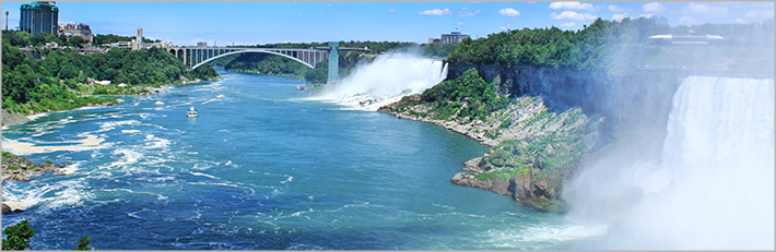 Niagara Falls; Bridge in background