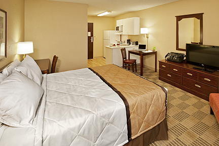 Bedroom at Extended Stay America